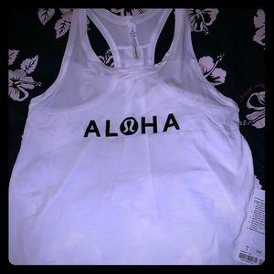 Lululemon Hawaii Love Tank Pleated